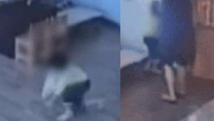 """""""교사 폭행에 네발로 기어 뒷걸음질""""…CCTV 찍힌 충격의 15분"""