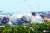지난해 6월 개성 공단에 위치한 남북 연락사무소 건물이 폭파되고 있다. 조선중앙통신=연합뉴스