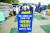 이춘희 세종시장이 지난 6월 15일 오전 서울 여의도 국회의사당 앞에서 국회 세종의사당 설치를 담은 국회법 개정안의 상반기 처리를 요구하는 1인 시위를 하고 있다. 연합뉴스