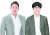 정용진 신세계그룹 부회장(왼쪽)과 이해진 네이버 창업자. 연합뉴스