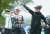 고진영(가운데)은 11일 코그니전트 파운더스컵에서 LPGA 투어 통산 10승을 달성해 샴페인 세례를 받았다. [AFP=연합뉴스]