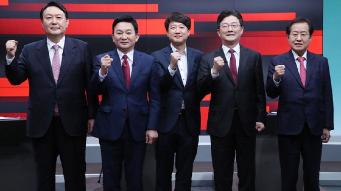 이재명 이길 야당 후보 묻자 홍준표 38.2% 윤석열 33.1%