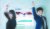 생활체육 랭킹 앱 '나도윈'을 개발한 윤지운 교수(왼쪽)와 윤효준 박사가 한국체대 스포츠 분석센터에서 묵찌빠 게임 장면을 연출해 보이고 있다. [김경빈 기자]