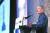 지난 14일 서울 코엑스인터컨티넨탈호텔에서 열린 ' 한국 이미지상 시상식'에서 해리 해리스 주한 미국대사가 축사를 하고 있다. [연합뉴스]