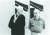 정기용과 프랑스 화상 장 푸르니에. 파리 장 푸르니에 갤러리, 1995년. [사진 임영균]