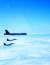 미 공군이 19일 B-52H(위)가 지난 17일 동해상을 비행하는 사진을 공개했다. [뉴시스]
