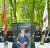 2017년 6월 문재인 대통령이 콴티코 박물관의 '장진호 전투 기념비' 제막식에서 연설하고 있다. 기념비의 위쪽 장식은 '고토리 별.' 눈보라 밤하늘에 퇴로를 밝혀준 별이다.