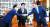 김태년 민주당 원내대표(오른쪽)와 주호영 미래통합당 원내대표(왼쪽)가 26일 박병석 국회의장 주재로 회동하고 있다. 임현동 기자