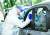 15일 로마에서 마스크를 쓴 의료진이 코로나 검사를 하고 있다. [로마 EPA=연합뉴스]