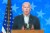 조 바이든 민주당 후보가 지난 5일(현지시간) 델라웨어주 윌밍턴에서 기자회견을 열고 개표 상황에 대한 입장을 밝히고 있다. [AP=연합뉴스]
