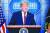 도널드 트럼프 미국 대통령이 지난 5일(현지시간) 백악관에서 기자회견을 열고 개표 상황에 대한 입장을 밝히고 있다. [AFP=연합뉴스]