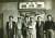 왼쪽부터 하인두, 장성순, 김창열, 박서보, 전상수, 김청관, 서울 화신백화점, 1958년. [사진 갤러리현대]