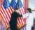 문재인 대통령이 20일 오후(현지시간) 미국 워싱턴DC 국회의사당에서 낸시 펠로시 하원의장과 팔꿈치 인사를 하고 있다. [워싱턴DC=뉴시스]