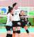 몽골 출신의 1m95㎝ 최장신 배구선수 목포여상 어르헝(가운데). [사진 더 스파이크]