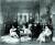 공사관 도서실에서 관원들과 미국의 경자년 배상금 초과액 증거자료를 찾는 량청(오른쪽 둘째). [사진 김명호]
