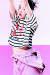 리조트 룩으로 출시된 '럭키슈에뜨' 스트라이프 크롭톱. [사진 각 브랜드]