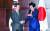 2019년 12월 24일 중국 청두에서 문재인 대통령과 아베 신조 당시 일본 총리가 정상회담을 하기에 앞서 악수하고 있다. 한·일 정상회담은 이날 이후 중단된 상태다. [청와대사진기자단]