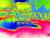영남과 영동 일부 지역을 제외한 전국에서 폭염이 기승을 부린 16일 서울역 광장 선별진료소에서 살수차가 물을 뿌리며 열기를 식히고 있다. 열화상 카메라로 촬영한 모습으로 색깔이 붉을수록 높은 온도를, 푸를수록 낮은 온도를 나타낸다. [연합뉴스]