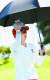 도쿄 올림픽 여자 골프 경기에서 한국 선수들이 더위를 식히고 있다. 김효주. [연합뉴스]