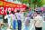 2018년 9월, 청와대 분수대 앞에서 탈원전 폐기 촉구 집회가 열렸다. [연합뉴스]