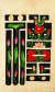 문자도(19세기 후반·부분), 8폭 병풍, 종이에 채색, 각 61x36㎝. [사진 현대화랑]