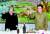 매들린 올브라이트 전 미국 국무장관이 2000년 10월 23일 평양 백화원 초대소에서 열린 만찬에서 김 위원장과 건배하고 있다. 이들 방북은 노 전 대통령과 빌 클린턴 전 미 대통령 임기 말에 이뤄졌다는 공통점을 갖고 있다. [AP=연합뉴스]