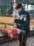 이영석 군이 인명구조용 드론의 시제품으로 실험을 하고 있다. [사진제공=대전동신과학고]